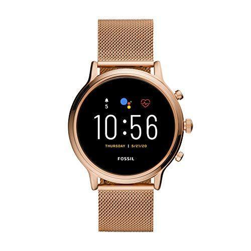 "<p><strong>Fossil</strong></p><p>amazon.com</p><p><strong>$285.99</strong></p><p><a href=""https://www.amazon.com/dp/B083T6BFN8?tag=syn-yahoo-20&ascsubtag=%5Bartid%7C10055.g.34700315%5Bsrc%7Cyahoo-us"" rel=""nofollow noopener"" target=""_blank"" data-ylk=""slk:Shop Now"" class=""link rapid-noclick-resp"">Shop Now</a></p><p>If you run your life through Google, having a watch powered by the same operating system will <strong>enable seamless integration</strong> of things like Gmail and Google Assistant. Among WearOS smartwatches, our experts single out the Fossil Get 5 Julianna HR for its built-in microphone, allowing you to answer calls at your wrist. You can also issue voice commands to smart devices in the home—adjust the temperature, turn on the lights, lock the front door, and so on. The option of <strong>contactless payments</strong> through Google Pay is another nice perk. And the Fossil Gen 5 Julianna HR is compatible with both Android phones and iPhones. </p><p>At 44MM, the case on the Fossil Julianna HR is on the chunky side, but the Fossil design is still feminine, especially in the rose gold finish. If you're looking for something more <strong>fashion-forward</strong>, consider the 40MM <a href=""https://www.amazon.com/Fossil-Venture-Stainless-Touchscreen-Smartwatch/dp/B07G9VY57S"" rel=""nofollow noopener"" target=""_blank"" data-ylk=""slk:Fossil Gen 4 Venture"" class=""link rapid-noclick-resp"">Fossil Gen 4 Venture</a>, which combines the same functionality with a more refined design. </p>"