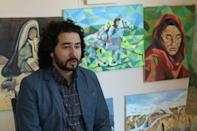 Omaid Sharifi co-founded ArtLords in 2014, and the collective went on to make more than 2,200 murals across Afghanistan (AFP/Shah MARAI)