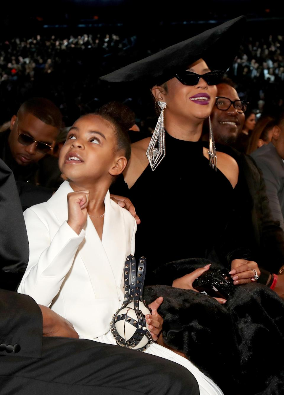 Beyoncé brought daughter Blue Ivy to the 2018 Grammys. (Photo: Christopher Polk/Getty Images for NARAS)
