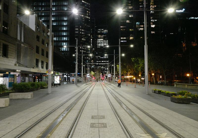 Streets in Sydney's CBD looking very quiet due to the COVID-19 situation. Source: Getty