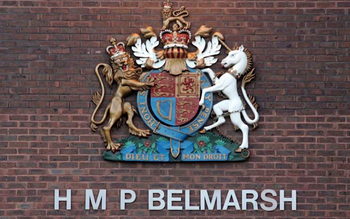 The alleged attack took place at Belmarsh prison in south east London