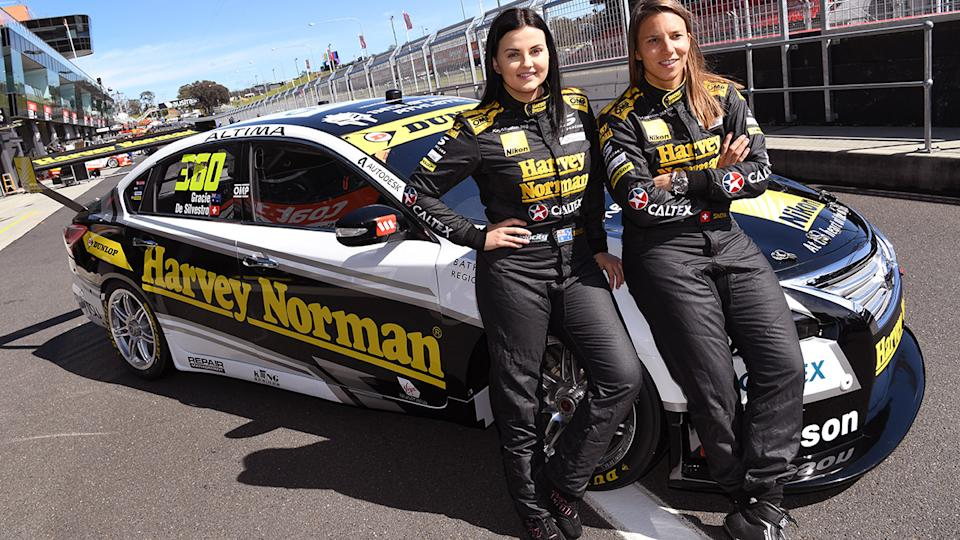 Renee Gracie and Simona de Silvestro, pictured here at the Bathurst 1000 in 2015.