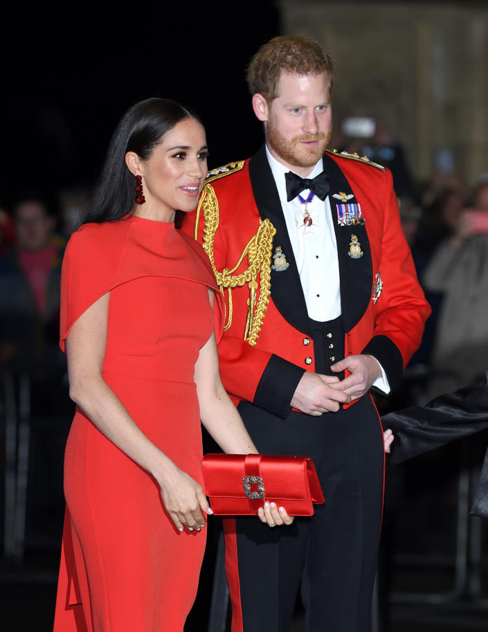 Harry and Meghan attended the Mountbatten Festival of Music in London. (Getty Images)