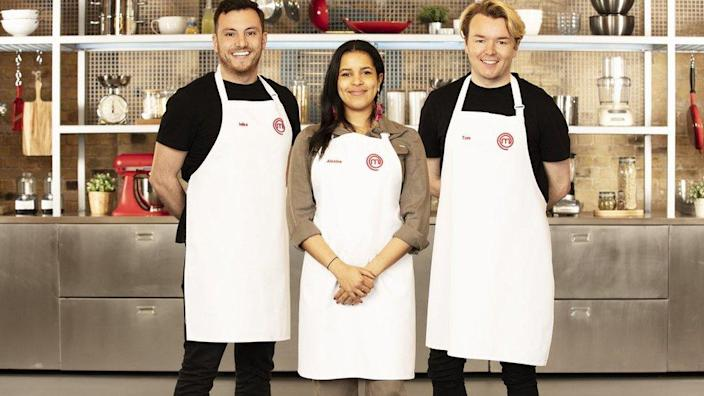 Mike Tomkins, Alexina Anatole and Tom Rhodes are the BBC MasterChef finalists 2021