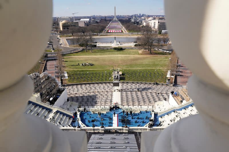 FILE PHOTO: Preparations ahead of the 59th Presidential Inauguration in Washington