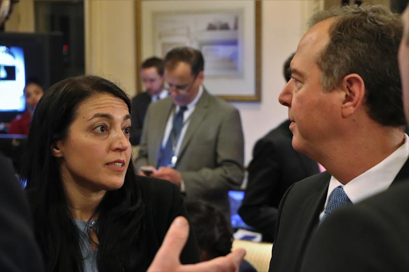 Susanne Sachsman Grooms with Rep. Adam Schiff