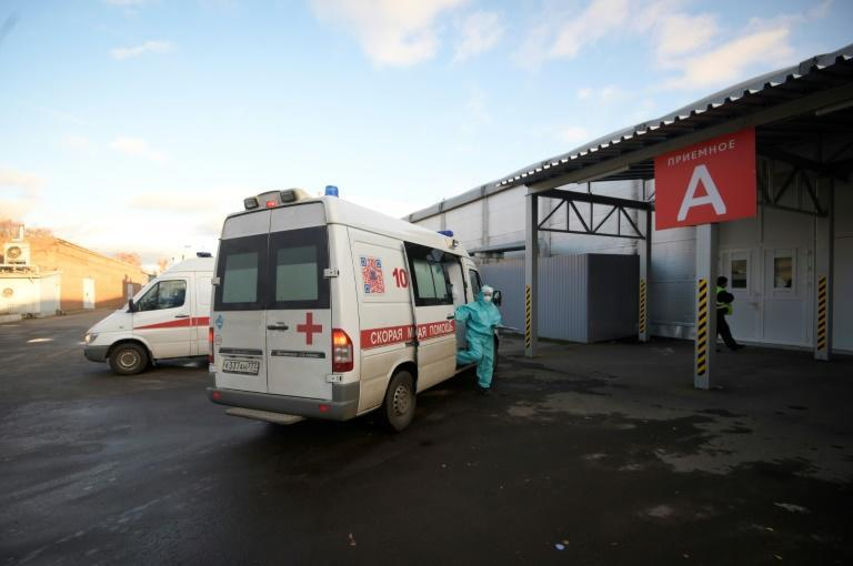 Ambulances bring about 80 patients to the temporary Sokolniki hospital every day and it is nearing capacity