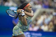 """<p><strong>Sport:</strong> Tennis<br> <strong>Country:</strong> USA</p> <p><a href=""""https://www.popsugar.com/fitness/Who-Cori-Coco-Gauff-46354869"""" class=""""link rapid-noclick-resp"""" rel=""""nofollow noopener"""" target=""""_blank"""" data-ylk=""""slk:Coco Gauff"""">Coco Gauff</a> grabbed headlines when she <a href=""""https://www.popsugar.com/fitness/Cori-Gauff-Beats-Venus-Williams-Wimbledon-2019-46336596"""" class=""""link rapid-noclick-resp"""" rel=""""nofollow noopener"""" target=""""_blank"""" data-ylk=""""slk:beat Venus Williams at Wimbledon in 2019"""">beat Venus Williams at Wimbledon in 2019</a> and, months later, secured her <a href=""""https://www.popsugar.com/fitness/coco-gauff-wins-her-first-wta-singles-title-46760822"""" class=""""link rapid-noclick-resp"""" rel=""""nofollow noopener"""" target=""""_blank"""" data-ylk=""""slk:first WTA Singles title"""">first WTA Singles title</a>. Currently ranked 24th in the world, Gauff recently secured an <a href=""""https://www.popsugar.com/fitness/womens-tennis-team-usa-tokyo-olympics-48362245"""" class=""""link rapid-noclick-resp"""" rel=""""nofollow noopener"""" target=""""_blank"""" data-ylk=""""slk:Olympic qualifying spot"""">Olympic qualifying spot</a> in Tokyo, which will make the 17-year-old the youngest Olympic tennis player since 2000.</p>"""