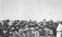 Students assemble in formal attire outside the Fort Resolution Indian Residential School in Fort Resolution, Northwest Territories in a 1928 archive photo. REUTERS/J.F. Moran/Library and Archives Canada/PA-102519/handout via Reuters