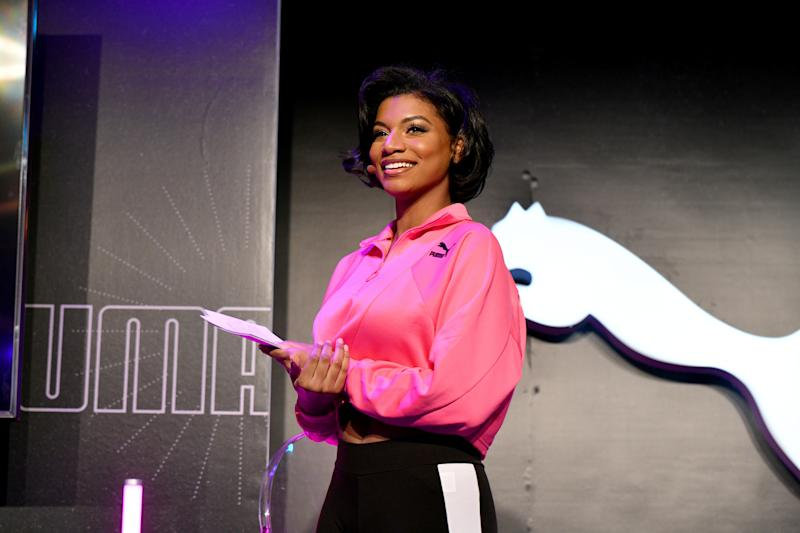 NEW YORK, NEW YORK - JANUARY 29: Taylor Rooks speaks onstage during the PUMA SS20 Women's Event on January 29, 2020 in New York City. (Photo by Bryan Bedder/Getty Images for PUMA)