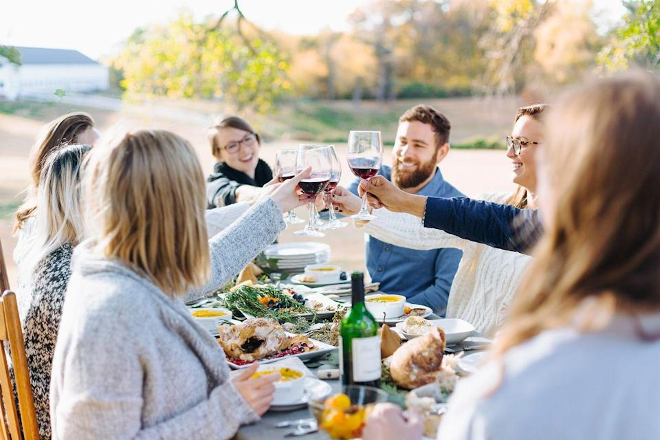 """<p>For celebrated chef and cookbook author Michael Chiarello, Thanksgiving is a way to honor his Italian and California heritage by cooking with seasonal organic products featured in this menu.</p><p><strong>Starters:</strong></p><p>Olives, salami, cheese</p><p><strong>Main Course:</strong></p><p><a href=""""https://www.countryliving.com/food-drinks/recipes/a1994/spice-roasted-turkeys-cranberry-gravy-clv1107/"""" rel=""""nofollow noopener"""" target=""""_blank"""" data-ylk=""""slk:Spice-Rubbed Whole-Roasted Turkey with Cranberry Gravy"""" class=""""link rapid-noclick-resp"""">Spice-Rubbed Whole-Roasted Turkey with Cranberry Gravy</a></p><p><strong>Side Dishes:</strong></p><p><a href=""""https://www.countryliving.com/food-drinks/recipes/a1993/panettone-stuffing-clv1107/"""" rel=""""nofollow noopener"""" target=""""_blank"""" data-ylk=""""slk:Panettone Stuffing"""" class=""""link rapid-noclick-resp"""">Panettone Stuffing</a></p><p><a href=""""https://www.countryliving.com/food-drinks/recipes/a1996/cauliflower-parmigiana-clv1107/"""" rel=""""nofollow noopener"""" target=""""_blank"""" data-ylk=""""slk:Cauliflower alla Parmigiana"""" class=""""link rapid-noclick-resp"""">Cauliflower alla Parmigiana</a></p><p><a href=""""https://www.countryliving.com/food-drinks/recipes/a1991/pumpkin-risotto-butter-clv1107/"""" rel=""""nofollow noopener"""" target=""""_blank"""" data-ylk=""""slk:Pumpkin Risotto with Pumpkin Butter"""" class=""""link rapid-noclick-resp"""">Pumpkin Risotto with Pumpkin Butter</a></p><p><a href=""""https://www.countryliving.com/food-drinks/recipes/a1988/honey-roasted-applesauce-clv1107/"""" rel=""""nofollow noopener"""" target=""""_blank"""" data-ylk=""""slk:Honey-Roasted Applesauce"""" class=""""link rapid-noclick-resp"""">Honey-Roasted Applesauce</a></p><p><a href=""""https://www.countryliving.com/food-drinks/recipes/a1990/cranberry-citrus-relish-clv1107/"""" rel=""""nofollow noopener"""" target=""""_blank"""" data-ylk=""""slk:Cranberry Citrus Relish"""" class=""""link rapid-noclick-resp"""">Cranberry Citrus Relish</a></p><p><strong>Desserts:</strong></p><p><a href=""""https://www.countryliving.com/food-drinks/recipes/a1995/harvest-fo"""