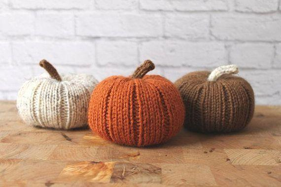 "Scatter these <a href=""https://www.etsy.com/listing/222427648/fall-decor-stuffed-pumpkins-knit?ga_order=most_relevant&ga_search_type=all&ga_view_type=gallery&ga_search_query=thanksgiving%20table%20decor&ref=sr_gallery_9"" target=""_blank"">knit pumpkins</a> around the table for easy and fun table decorating."