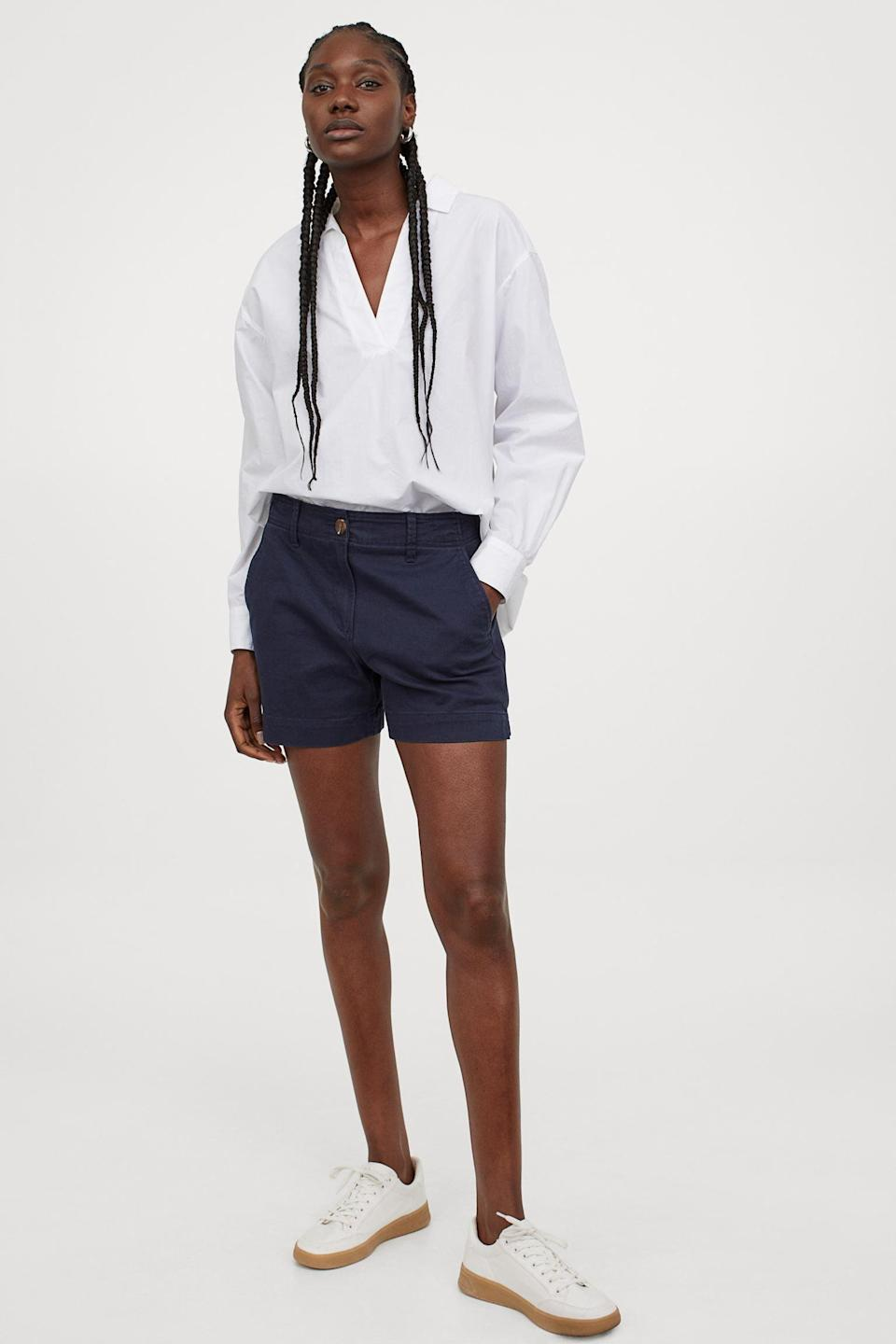 <p>These <span>Cotton Twill Shorts</span> ($25) look cool and effortless, when paired with a lightweight button-down and some comfortable sneakers.</p>
