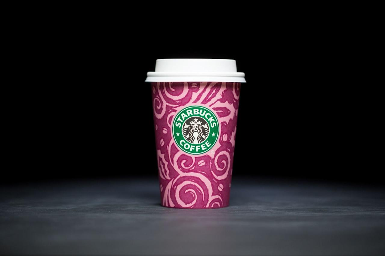 <p>Originally designed by Sandy Nelson, the first holiday cups in 1997 featured a swirl pattern with coffee beans and were made in four colours: magenta...</p>