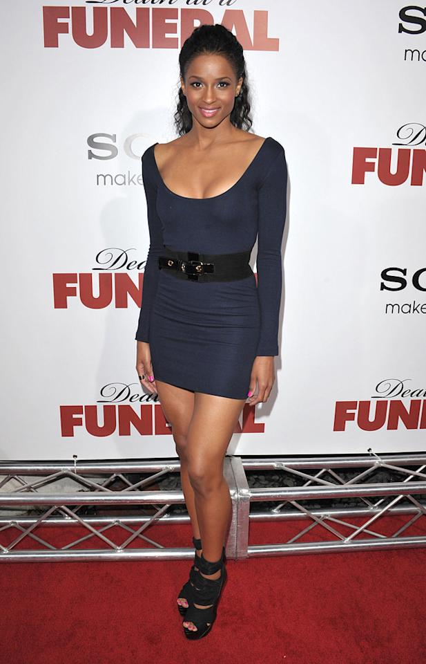 """<a href=""""http://movies.yahoo.com/movie/contributor/1802074521"""">Ciara</a> at the Los Angeles premiere of <a href=""""http://movies.yahoo.com/movie/1810077967/info"""">Death at a Funeral</a> - 04/12/2010"""