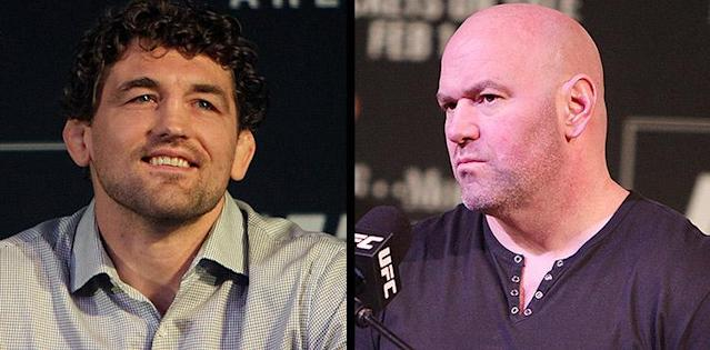 Ben Askren and Dana White at UFC 235 press conference