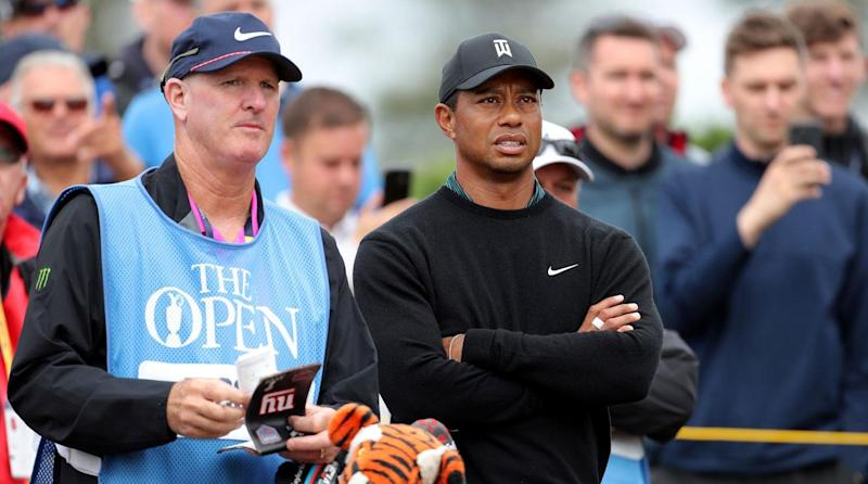 Tiger Woods' caddie tried to pay heckler to leave Firestone
