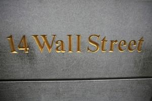 14 Wall Street Sign