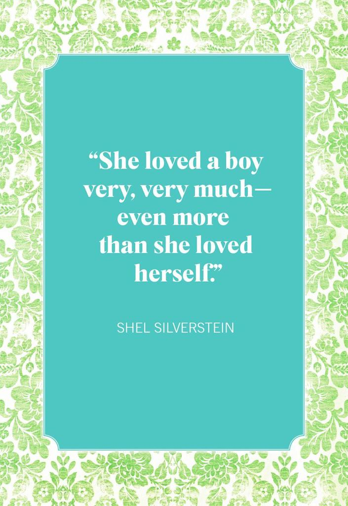 """<p>""""She loved a boy very, very much—even more than she loved herself.""""</p>"""