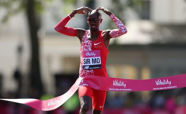 Sir Mo Farah will aim to defend his 10,000m title at the Tokyo Olympics this summer (Paul Harding/PA)