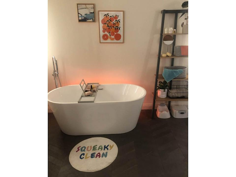 The bathroom has not been forgotten: cute mats and bath trays take centre stageEmma Henderson