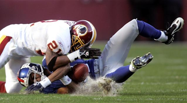 Running across the middle brought significant risk against Sean Taylor. (AP)