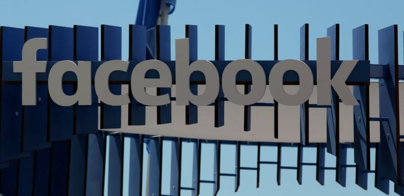 The logo of Facebook is seen at the Cannes Lions Festival in Cannes