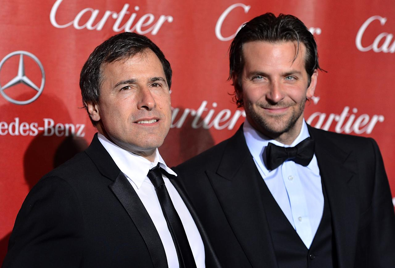 PALM SPRINGS, CA - JANUARY 05:  Director David O. Russell and Actor Bradley Cooper arrive at The 24th Annual Palm Springs International Film Festival Awards Gala on January 5, 2013 in Palm Springs, California.  (Photo by Frazer Harrison/Getty Images)