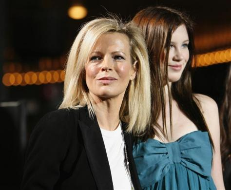 "Actress Kim Basinger and her daughter Ireland at the premiere of ""Twilight"" in Hollywood, November 17, 2008."