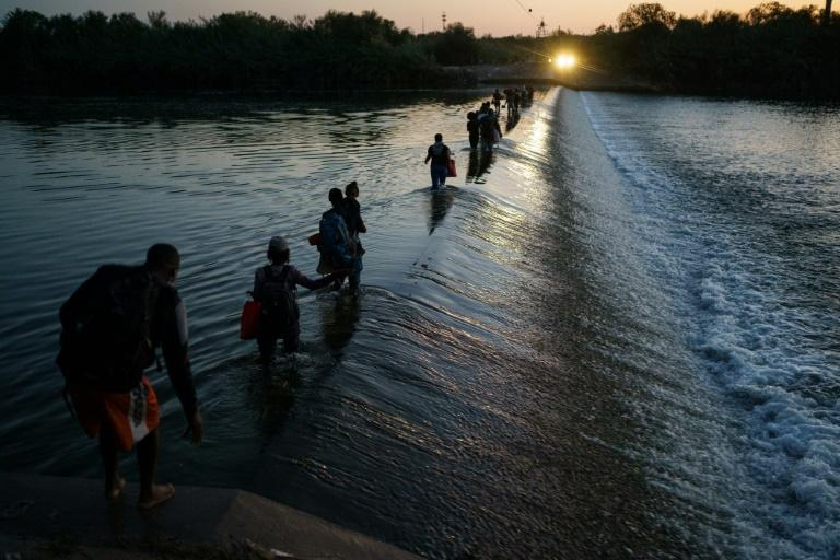 Haitian migrants have been flooding into the United States in recent months (AFP/PAUL RATJE)