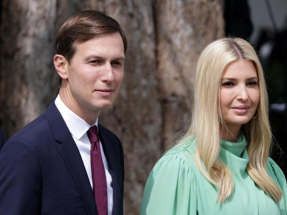 Jared Kushner and Ivanka Trump earlier this month (Getty Images)