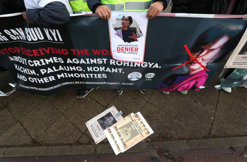 Demonstration outside the International Court of Justice (ICJ) in The Hague