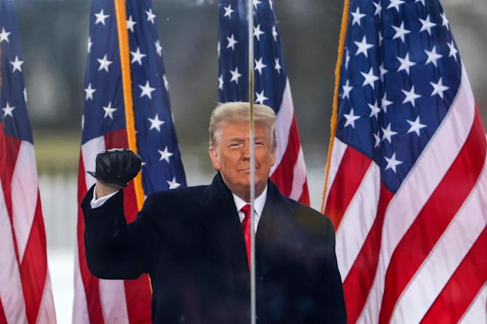 """President Donald Trump speaks at the """"Stop The Steal"""" Rally in Washington, DC on Jan 6"""