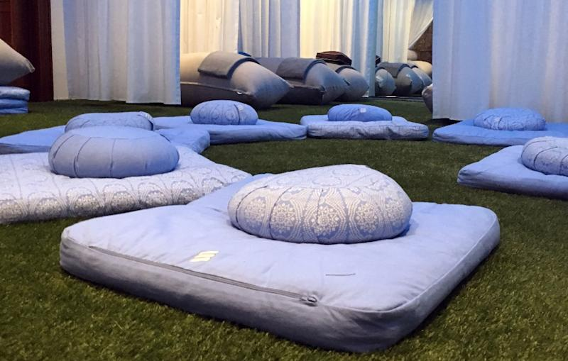 """Founded by a think tank consultant who works 60 to 70 hours a week, the """"recharj"""" nap and meditation studio in Washington DC is a space for harried workers to power down"""