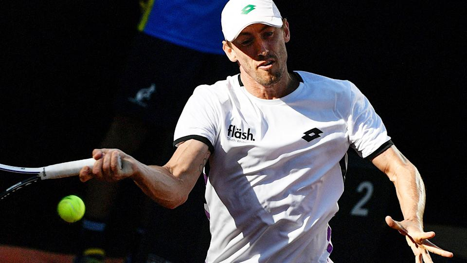 John Millman, pictured here in action at the recent Italian Open.