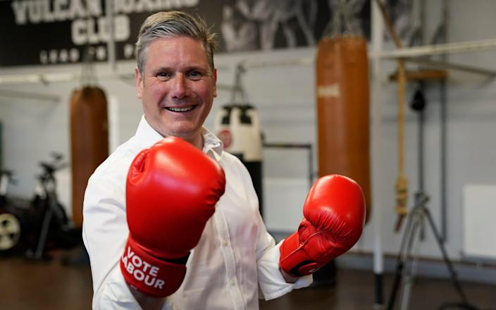 Punching above your weight: Sir Keir Starmer visits the Vulcan Boxing Club in Hull - PA