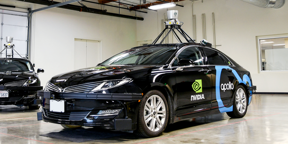 Image of NVIDIA driverless car.