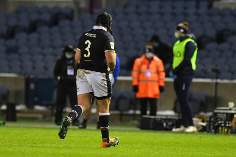 Walk of shame - Scotland prop Zander Fagerson leaves the pitch after being sent off against Wales