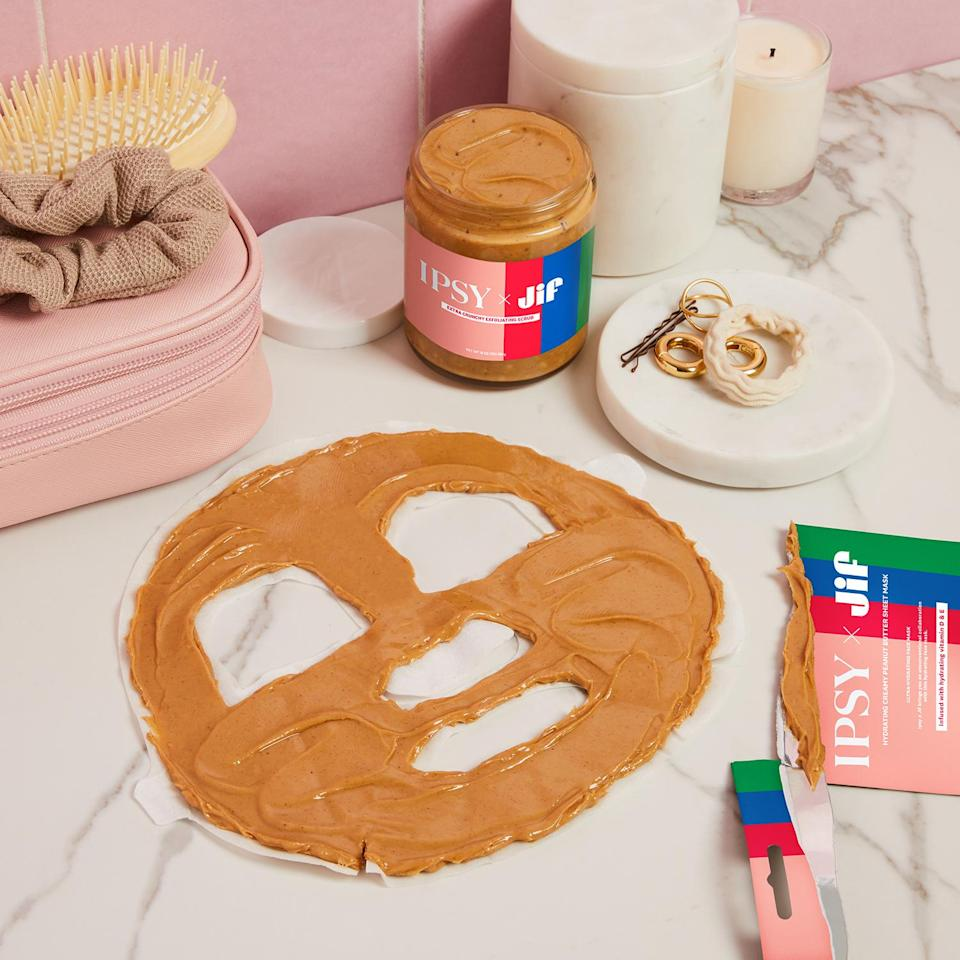 <p>Have you ever seen a more delicious sheet mask? If you didn't know, peanut butter makes for a great exfoliator.</p>