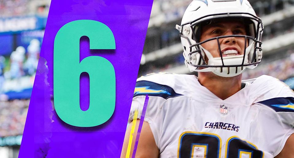 <p>Hunter Henry, considered lost for the season to an ACL injury, is expected to play in Sunday's wild-card game. Expectations shouldn't be too high, but even if Henry can be a factor for a few red-zone snaps, that's a huge boost for the Chargers. (Hunter Henry) </p>