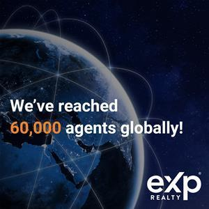 Today eXp Realty reaches 60k Agents Worldwide