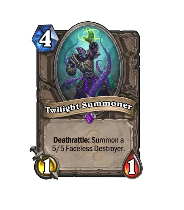 <p>Like an easier to get off Nerubian Egg, Twilight Summoner has the ability to attack without any buffs, but costs significantly more. It might be a tad overpriced for what it's worth.</p>