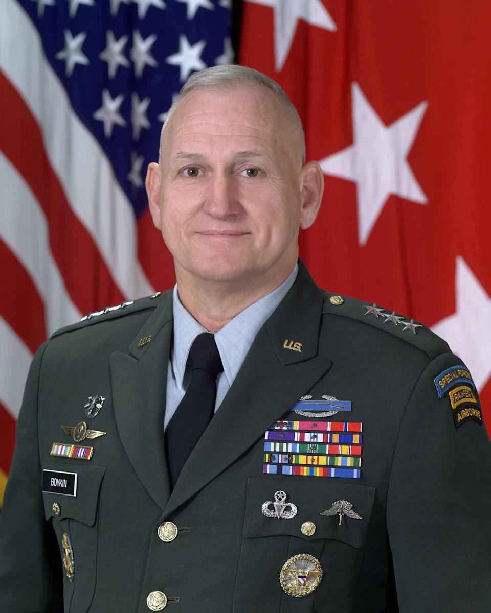Retired U.S. Army Lt. General William G. Boykin also signed the letter. (Photo: U.S. Army via Getty Images)