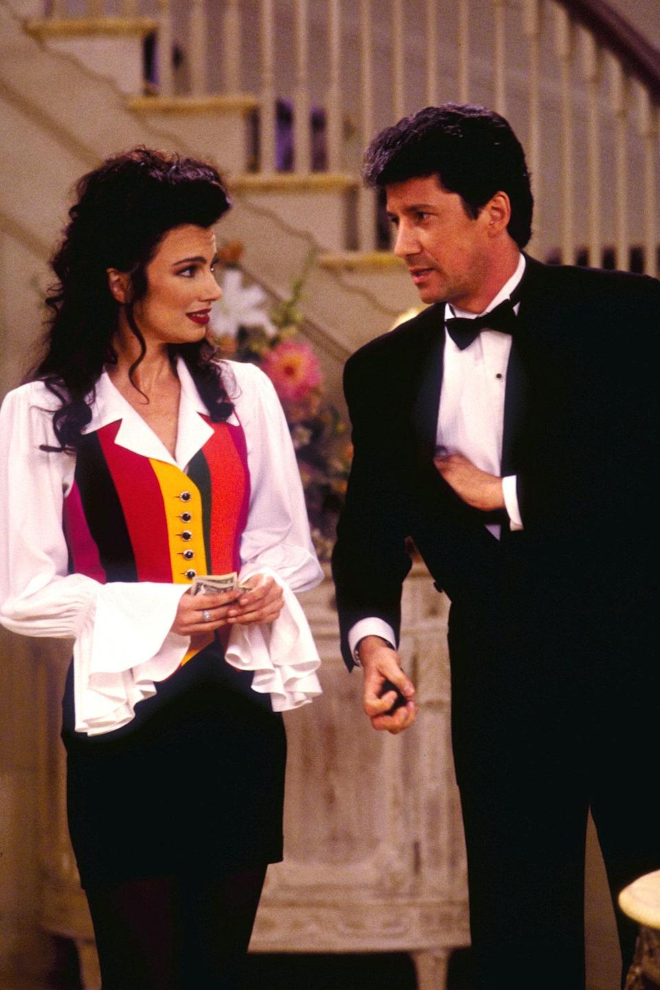 LOS ANGELES - JANUARY 3: THE NANNY, featuring Fran Drescher and Charles Shaugnessy. January 1994. (Photo by CBS via Getty Images)