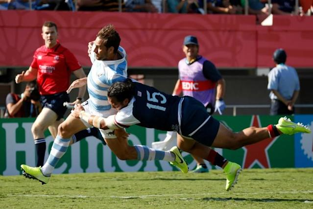 Argentina's fly-half Nicolas Sanchez gave a masterful performance (AFP Photo/Odd ANDERSEN)