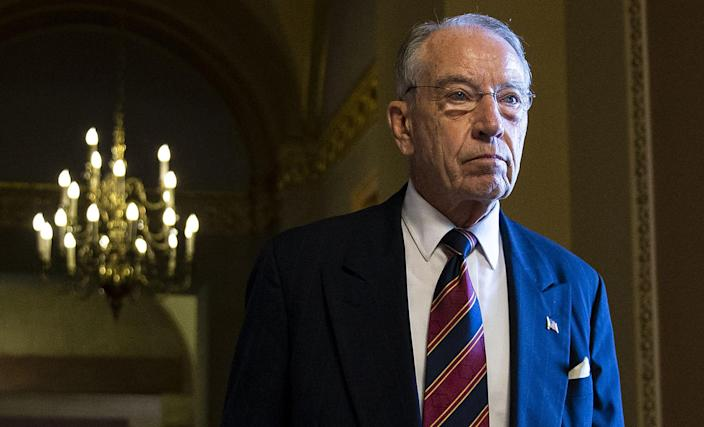 Sen. Chuck Grassley walks through the Capitol in September. (Photo: Al Drago/Bloomberg via Getty Images)