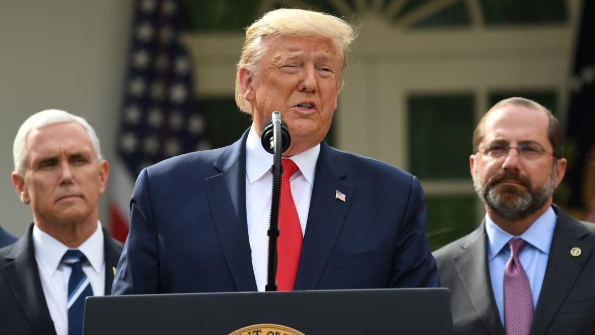Trump Declares National Emergency, Takes No 'Responsibility'