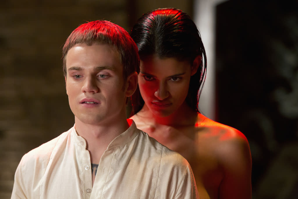 "Allan Hyde and Jessica Clark in the ""True Blood"" episode, ""Gone, Gone, Gone."""