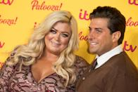 LONDON, ENGLAND - OCTOBER 16: (L-R) Gemma Collins and James Argent attend the ITV Palooza! held at The Royal Festival Hall on October 16, 2018 in London, England. (Photo by Jeff Spicer/WireImage)