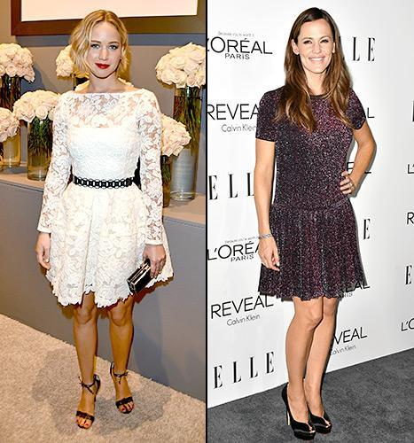Jennifer Lawrence and Jennifer Garner looked stunning at the Elle Women in Hollywood Awards